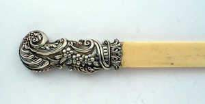 Late Victorian mounted ivory paperknife
