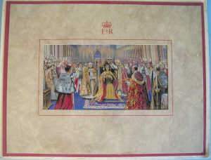 Royal commemorative stevengraph 'Elizabeth II' coronation