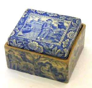 SPODE SOAP BOX, c1815