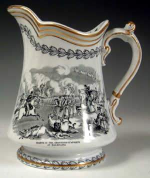 Staffordshire Commemorative jug, c1854