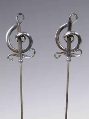 Pair of silver hat pins by Charles Horner, Chester 1912