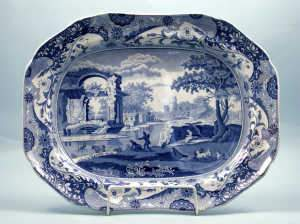 Late 18th Century Spode 'Italian Pattern' Blue & White Meat Dish