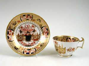 Spode London Shape teacup and saucer, c1815