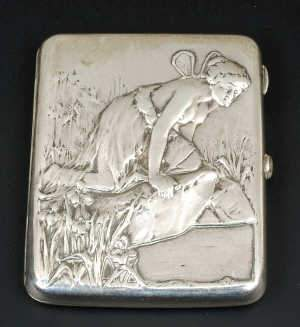 Russian silver cigarette case
