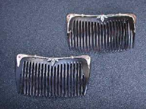 Pair of tortoiseshell hair combs