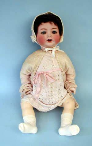 H. Kopplesdorf bisque porcelain doll with sleeping