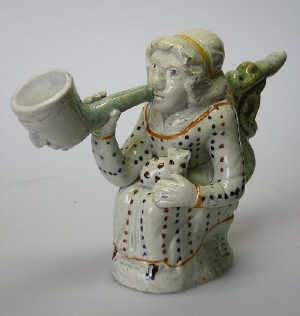 Mid 18th century Prattware pipe