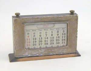 Early 20th century desk calander by  WJM and Co