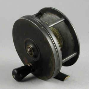 Malloch's Patent brass faced salmon reel