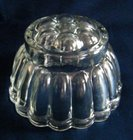 Vintage Glass Round Jelly Mold