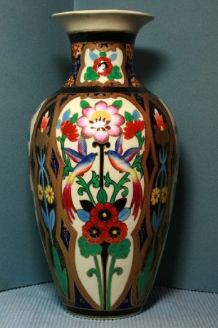 Noritake Vase Hand Painted With Birds And Flowers 32275 Price Value Oriental Sale Prices