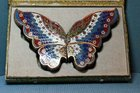 Cloisonne set of Four Boxes and Covers Forming a Butterfly