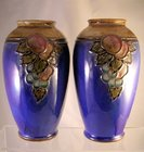 Royal  Doulton Pair of Vases by Ethel Beard