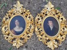 Pair 19th C oil paintings, Portraits of a lady and Gent.
