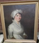 18th/19th C oil on canvas, portrait of a lady