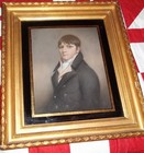 Early 19th C PASTEL portrait of a young man