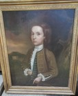 18th C oil on Canvas, Portrait of a boy