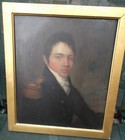 19th C oil on panel, portrait of a Naval Officer