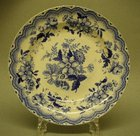 A Fine Blue and White Pearlware Dish