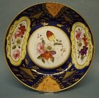 A Hand Painted Saucer Dish