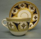 A Minton Bute Shape Tea Cup and Saucer