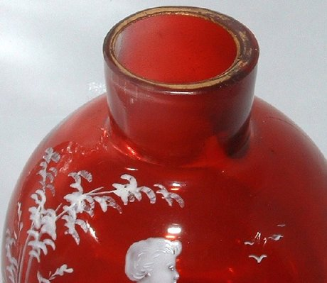 Rare Cranberry Mary Gregory Scent Perfume Bottle 34130