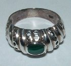 Silver & Malachite Ring