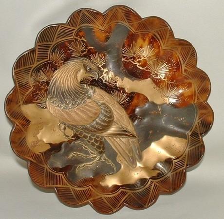 Tortoise-Shell Dish, Laquered Eagle