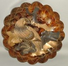 Tortoise-Shell Dish, Laquered Eagle