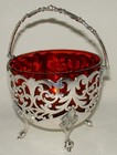 Silver-Plated Bonbon Basket