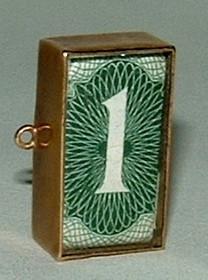 9ct gold Charm, In Emergency Break Glass