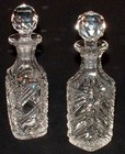 Pair of Cut Glass Scent Bottles