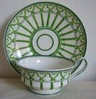 Antique Staffordshire Regency Stripe Cup & Saucer