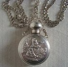 Edwardian English Silver Scent Bottle & Chatelaine