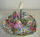 Midwinter Brama Chintz Cruet Set & Stand C1946