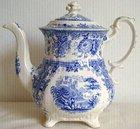 William Ridgway Tyrolean P#2 Tea Pot C1840 Staffordshire Pottery