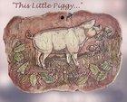 'This Little Piggy ' Vintage Art Pottery Plaque Artist Signed