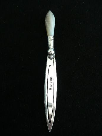 Silver Bookmark with Agate Handle