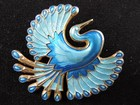 David-Andersen Silver-Gilt & Enamel Bird of Paradise Brooch