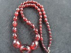Victorian Cherry Amber Necklace