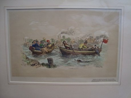 Two Hand-Coloured Prints: The Oxford & Cambridge Boat Race