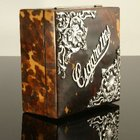 Beautiful Tortoiseshell Box with Silver Decoration