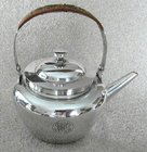A Silver Plated Tea Pot by Dr Christopher Dresser Hukin & Heath
