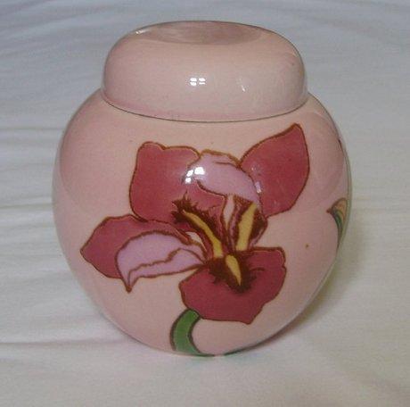 A Carlton Ware Pink Floral Lidded Ginger Jar