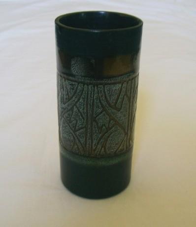 Newlyn Cornwall Celtic Studio Pottery Medallion Design Vase