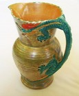 Burleigh Ware (Burgess & Leigh) Large Dragon Handled Art Deco Jug