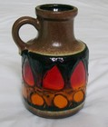 Scheurich West German 414 – 16 Volcano Dripped Glaze Jug