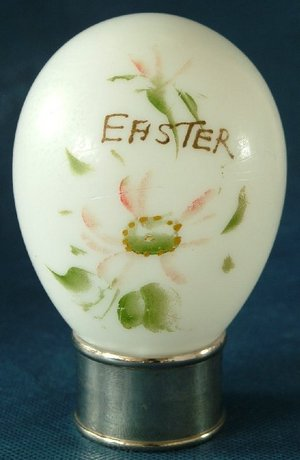 Late Victorian Hand Made Blown Glass Easter Egg