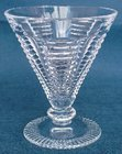 Set of Four Art Deco Highly Cut Lead Crystal Cocktail Glasses
