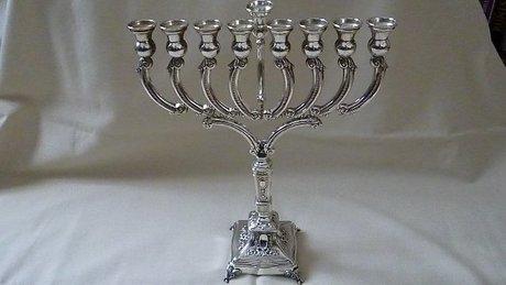 SILVER MENORAH Hanukkah or Chanukah